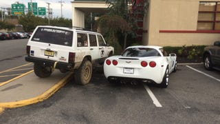 Jeep Driver Gets Best Revenge Ever On Asshat Corvette Parker