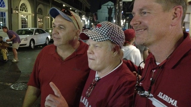 Harvey Updyke Jr. On Bourbon Street, Where There Are No Trees For Him To Poison