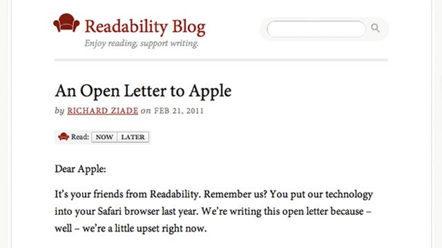 Readability App Becomes Victim of Apple's Dumb Subscription Policy