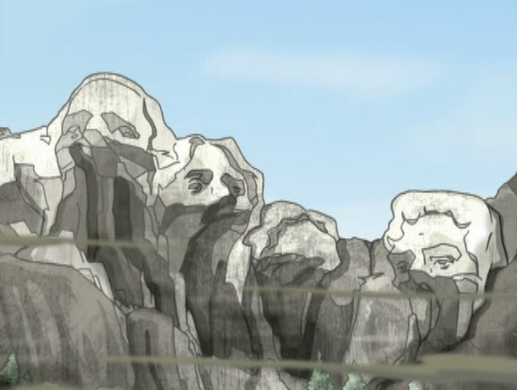Who defaced Mount Rushmore best?