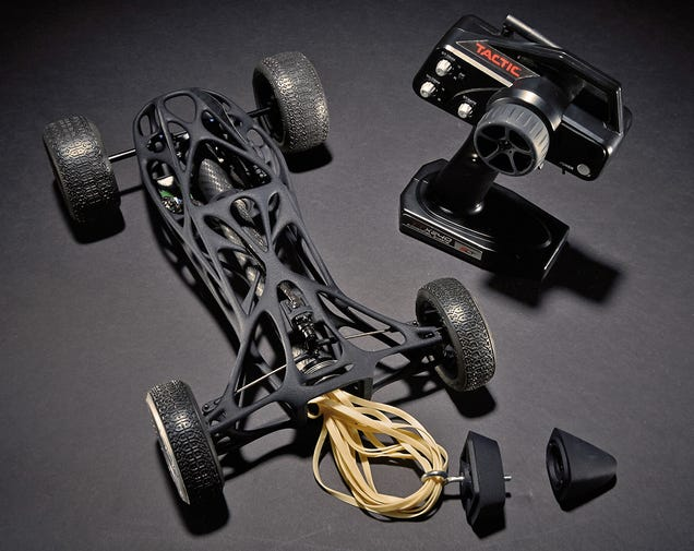 A 16-Foot Elastic Band Powers This Sleek 3D-Printed RC Car