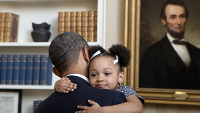 President Obama Gives Quite Possibly the Most Adorable Hug Ever