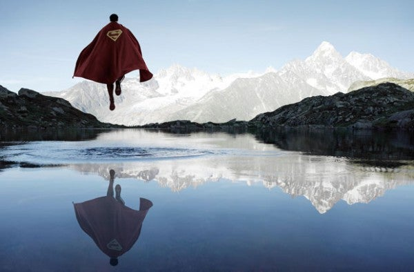 Superheroes in nature: A photography set