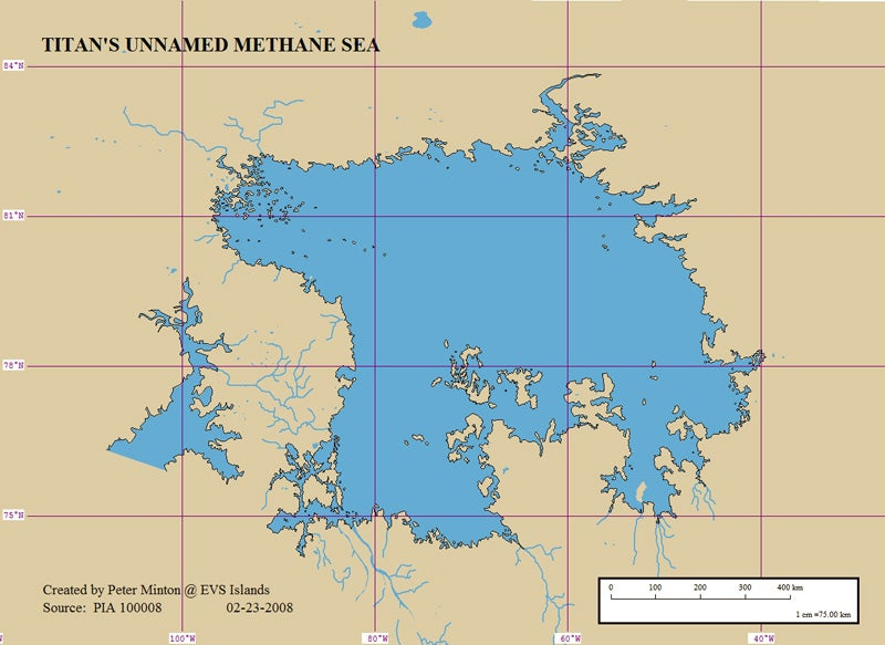 A Vector Map of the Unnamed Methane Sea on Titan