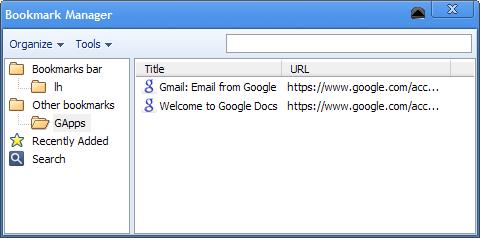 Google Chrome Gets Full-on Bookmark Manager