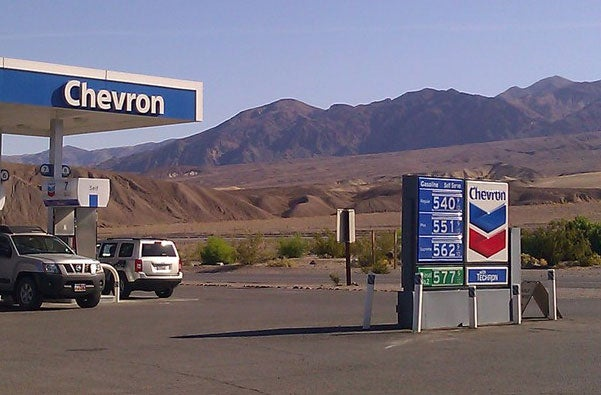 Death Valley Chevron's $5.40 gas will kill your wallet