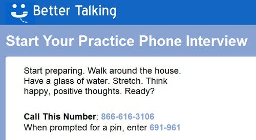 Better Talking Lets You Practice And Review for Interviews