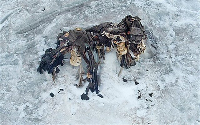 Frozen World War I soldiers appear in the Alps