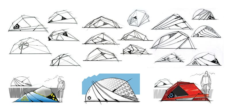 These Snow-White Tents Offer Shelter With Lightweight Fabric Ribs