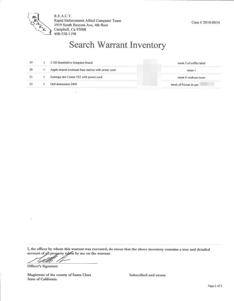 Police Seize Jason Chen's Computers