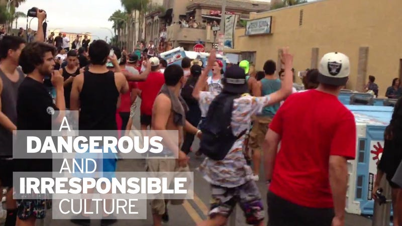 Video of Violent, Rioting Surfers Shows White Culture of Lawlessness