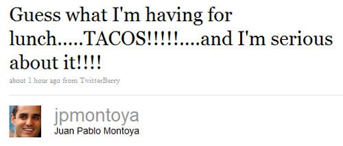 Seriously, Juan Pablo Montoya Can't Get Enough Tacos