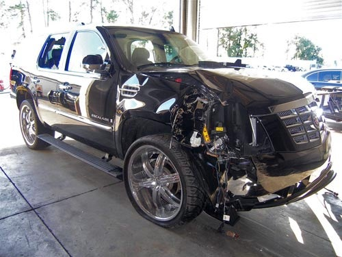 Tiger Woods' Escalade: Complete Cadillac Carnage Gallery