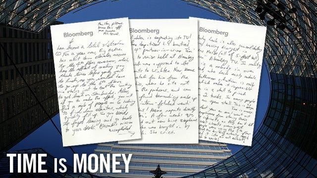 A Handwritten Cry for Help From Inside the Bloomberg Mothership