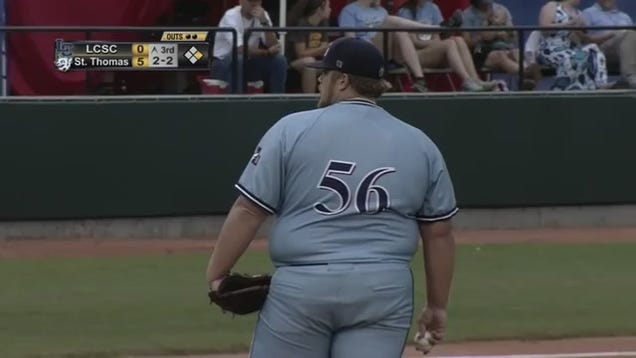 300-Pound College Pitcher Takes Internet By Storm