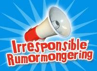 Irresponsible Rumormongering: Stiffed By MTV?