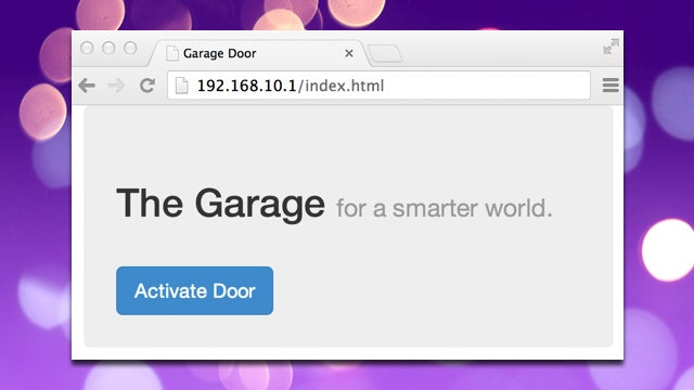 Open Your Garage Door via a Browser with Raspberry Pi