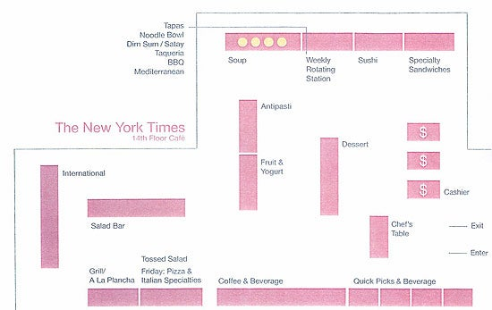 Inside The New 'Times' Cafeteria: The Full Report