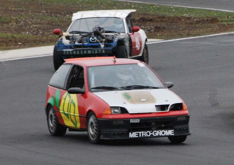 What's It Like To Race A Motorcycle-Engined Geo Metro?