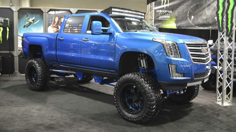 here 39 s what a 2015 cadillac escalade ext monster pickup would look like. Black Bedroom Furniture Sets. Home Design Ideas