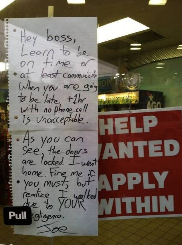 Gas Station Worker Gets Fired After Note to His Boss Goes Viral