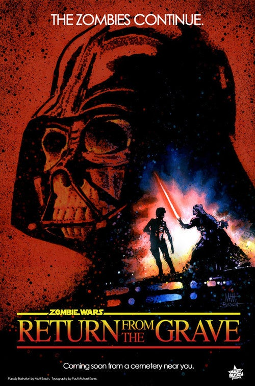 Zombies Invade the Star Wars Movie Posters