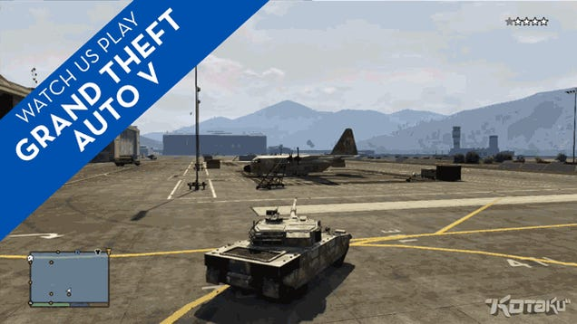 28 Minutes Of GTA V's Stolen Planes, Tanks And Selfies