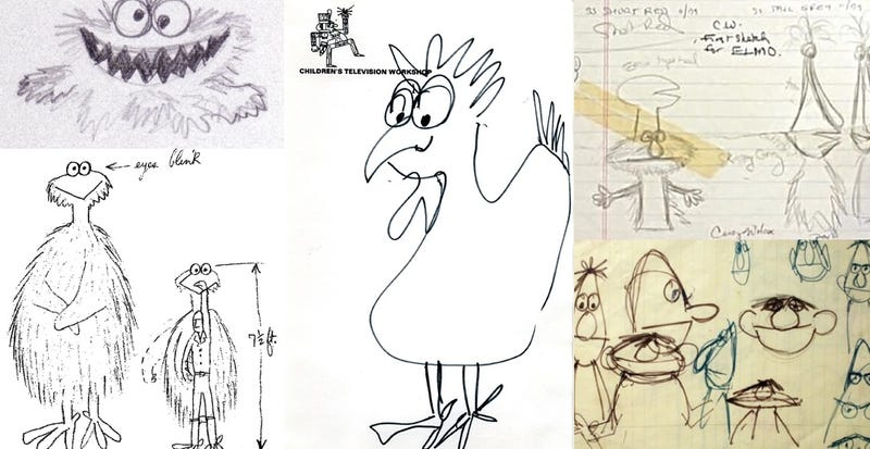 In Jim Henson's early Sesame Street sketches, Big Bird was a giant chicken and Oscar the Grouch was pink