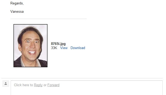 Employment Seeker Mistakes Nic Cage JPEG for CV, Inadvertently Sends Out Greatest Job Application Ever