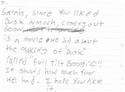 Read Quentin Tarantino's adorable letter to a 13-year-old From Dusk Till Dawn fan