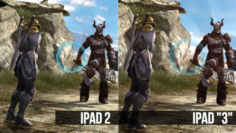 Here's Infinity Blade II Running on an iPad 2 and an iPad 3