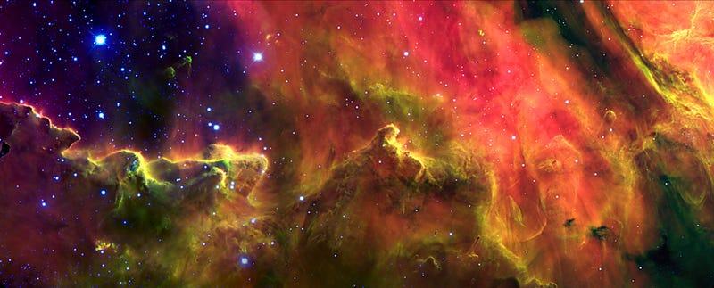 New 'Psychedelic Flashback' Image of Lagoon Nebula