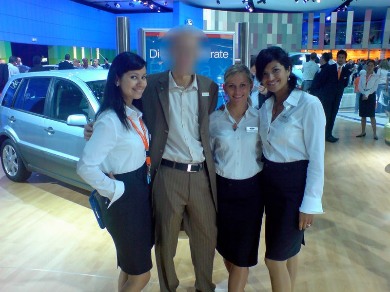 How To Be A Male Booth Babe At The World's Biggest Auto Show