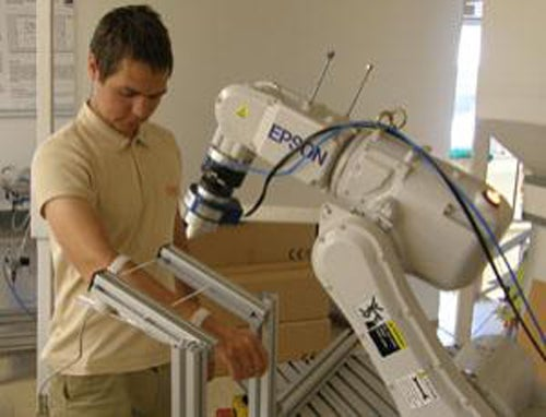 Robot arm punches human to obey Asimov's rules