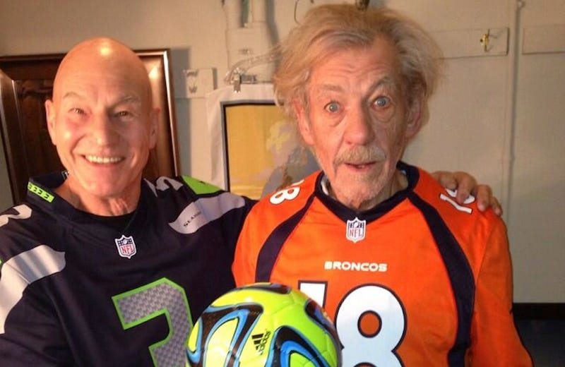 Ian McKellen and Patrick Stewart Are Ready for the Super Bowl