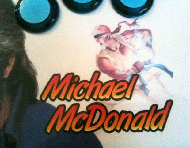 The Very Last Face I'd Expect to See on an Arcade Stick