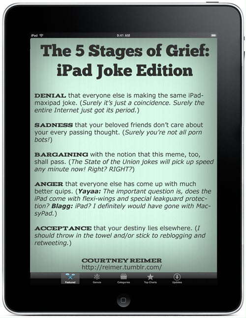 Graphic Humor With Apple's New iPad