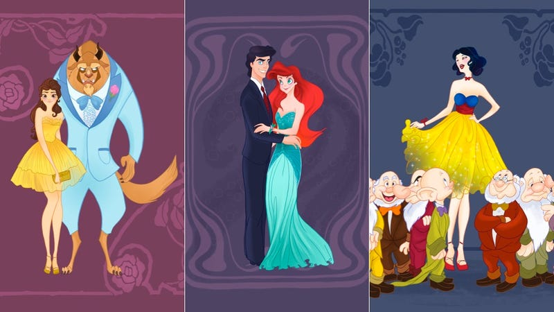 Here's What it Would Look Like if Disney Princesses Went to the Prom