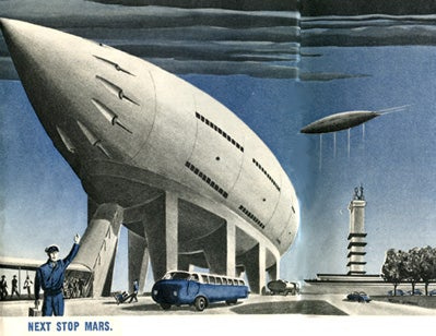 """Cocktails in Space on """"Your Trip to Mars,"""" 1952"""