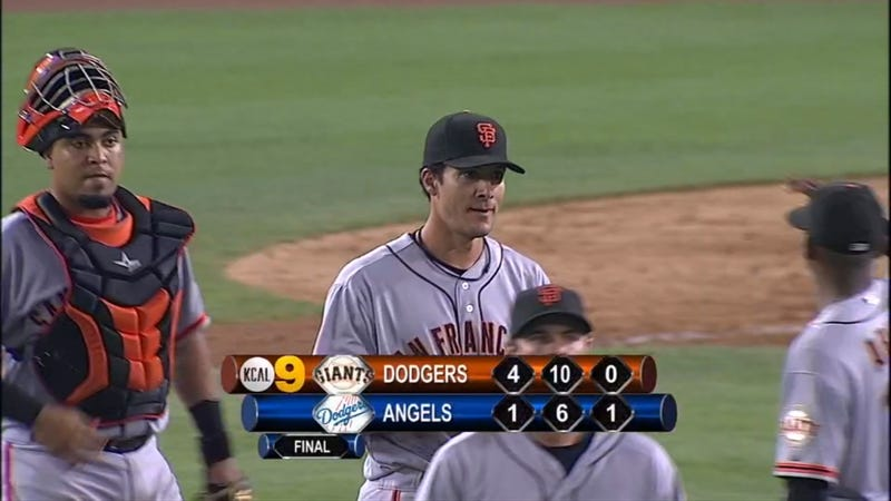 KCAL Forgot Which Teams Were Playing At The End Of Last Night's Giants-Dodgers Game