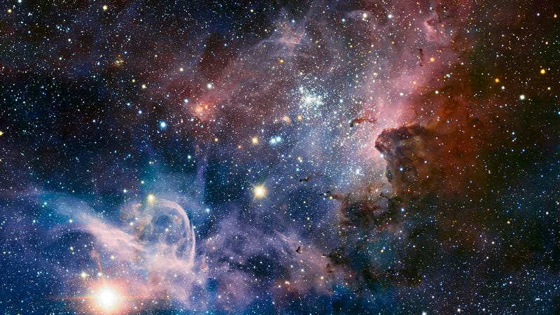 This eye-popping mosaic takes us inside the beautiful Carina Nebula
