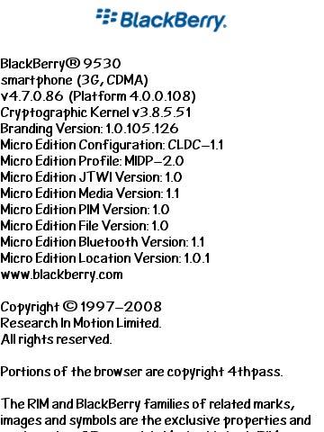 BlackBerry Storm 4.7.0.86 Update Leaked