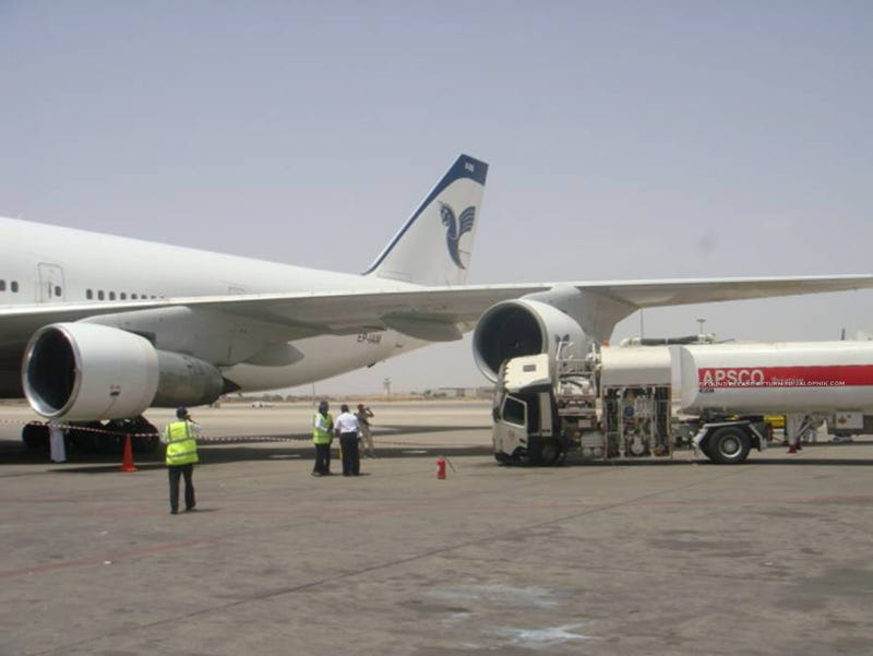 Iranian passenger jet crashes into refueling truck