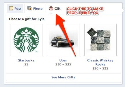 Facebook Gifts Just Became the Easiest Way to Look Good in Front of Everyone