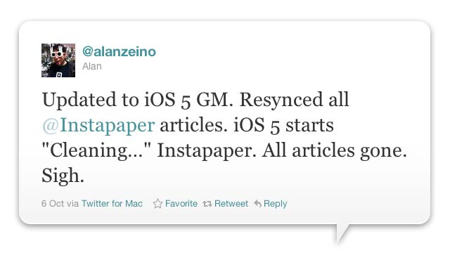 How iOS 5 Neuters Instapaper (and Other Offline Apps)