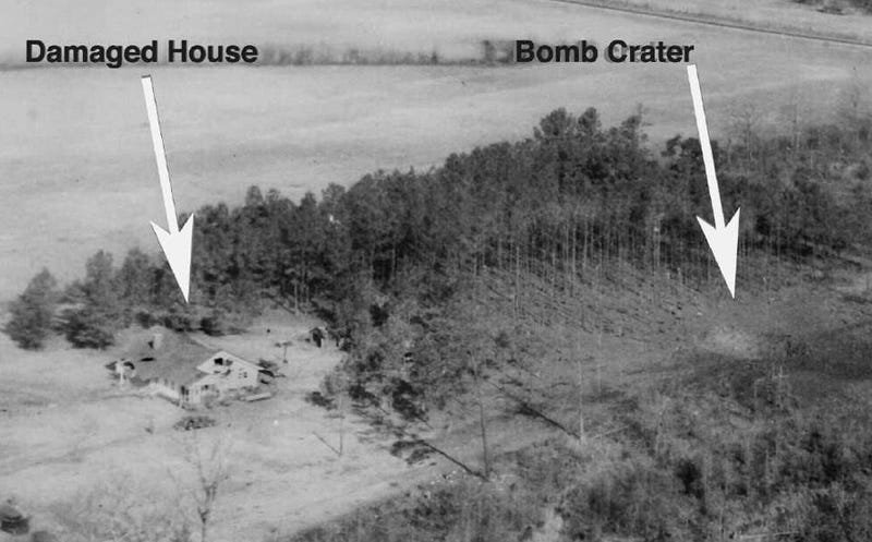 In 1958, America accidentally dropped a nuclear weapon on two little girls' playhouse