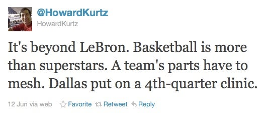 Howard Kurtz Is An Expert On Sports Platitudes Too