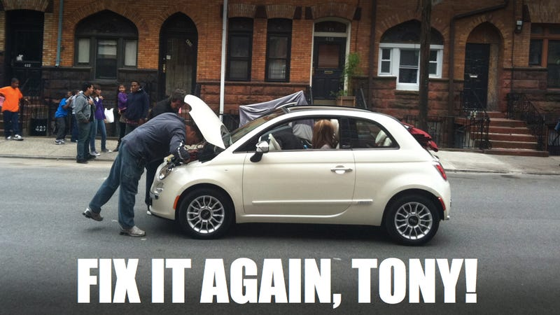 Jennifer Lopez's Fiat 500 broke down on the block