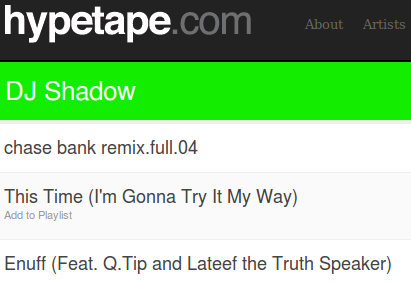 Hypetape Combines Muxtape-Style Streaming with Hype Machine Tracks