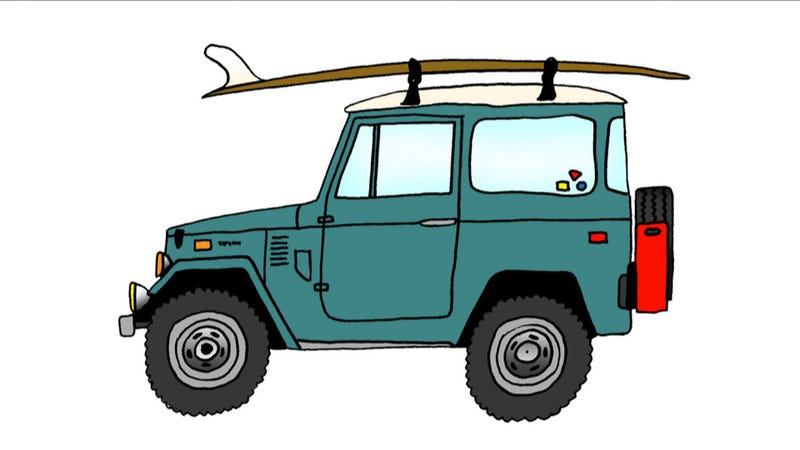 Surfboards And Cars Illustrated: The Ultimate Mid-Winter Summer Car Fantasy